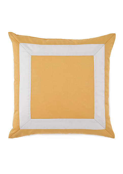 Jill Rosenwald Plimpton Flame Mitered Frame Decorative Pillow