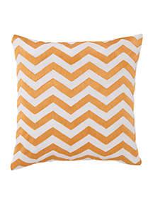 Plimpton Flame Chevron Decorative Pillow 20-in. X 20-in.