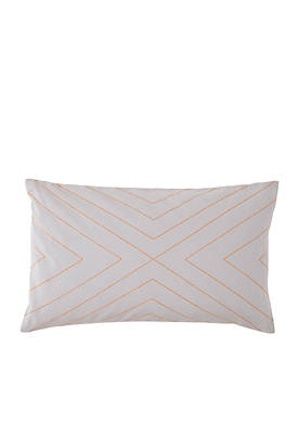 Plimpton Flame Top Stitched Decorative Pillow 12-in. X 20-in.