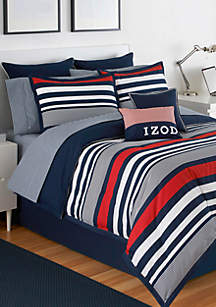 Varsity Stripe Full Comforter Set 76-in. x 86-in.