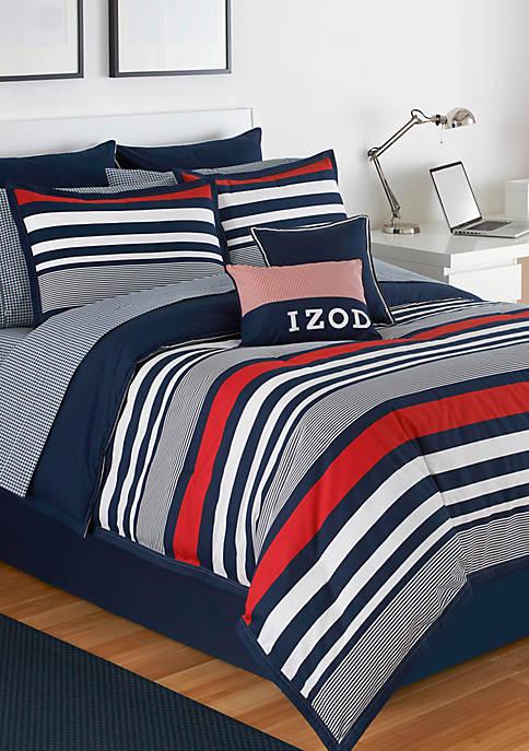 IZOD Varsity Stripe Full Comforter Set 76-in. x