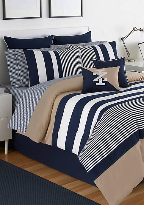 IZOD Classic Stripe Full Comforter Set 76-in. x
