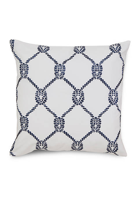 Breakwater Square Rope Decorative Pillow
