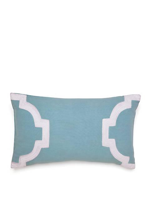 Jill Rosenwald Newport Gate Slate Embroidered Decorative Pillow