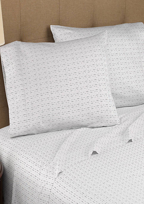Modern Living Dotted Line Organic Cotton King Sheet