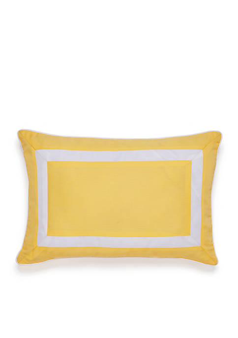 Savannah Yellow Framed Pillow 12-in. X 16-in.