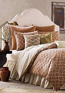 Binichic Terracotta Cal King Comforter Set 110 In X 96