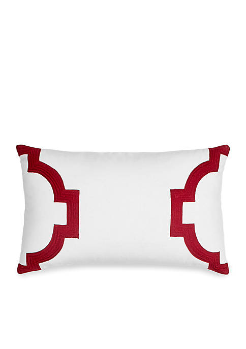 Hampton Links Embroidered Decorative Pillow 12-in. x 20-in.