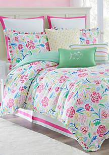 Kiawah Floral Reversible Comforter Set
