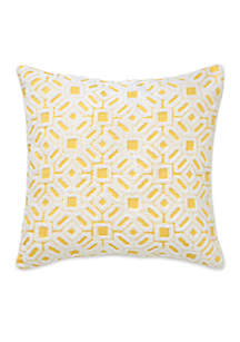 Kiawah Floral Square Embroidered Decorative Pillow