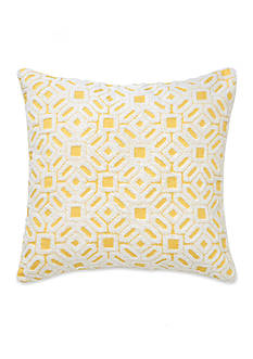 Southern Tide® Kiawah Floral Square Embroidered Decorative Pillow