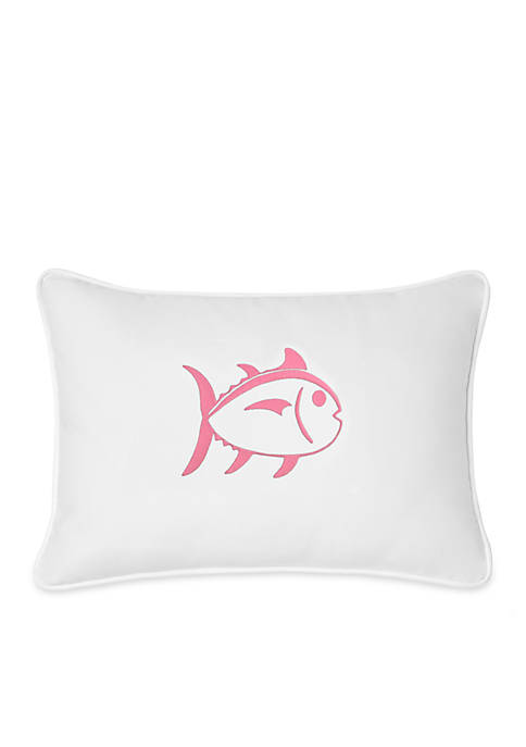 Skipjack Embroidered Decorative Pillow