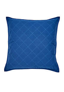 Yacht Club Square Quilted Decorative Pillow