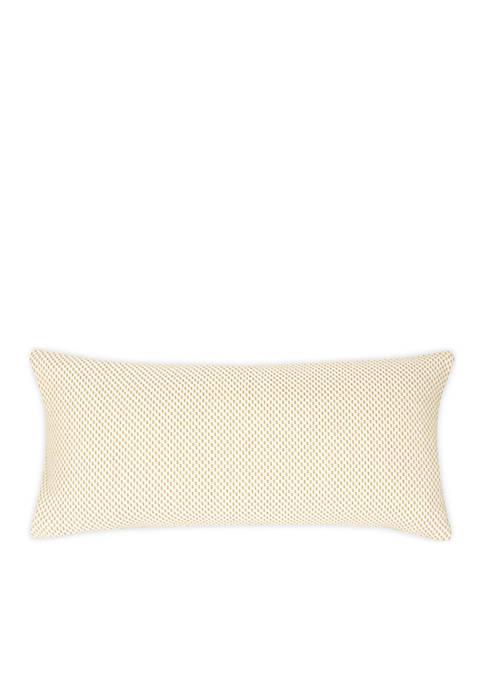 FlatIron Textured Diagonal Weave Throw Pillow