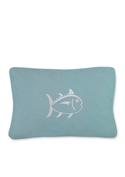 Tropical Retreat Embroidered Skipjack Decorative Pillow