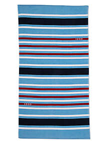 IZOD Multi-Stripe Beach Towel