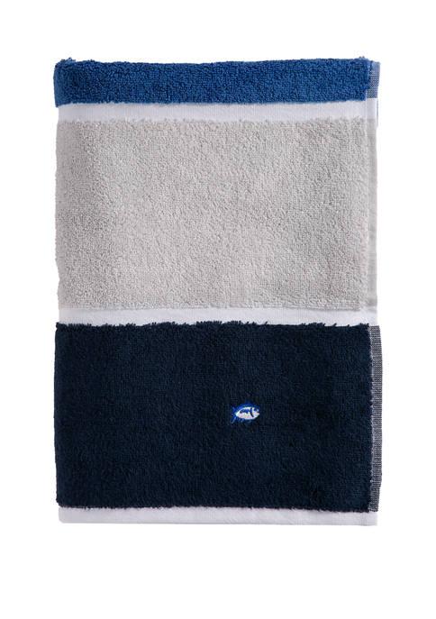 Performance Stripe Cobalt Bath Towel