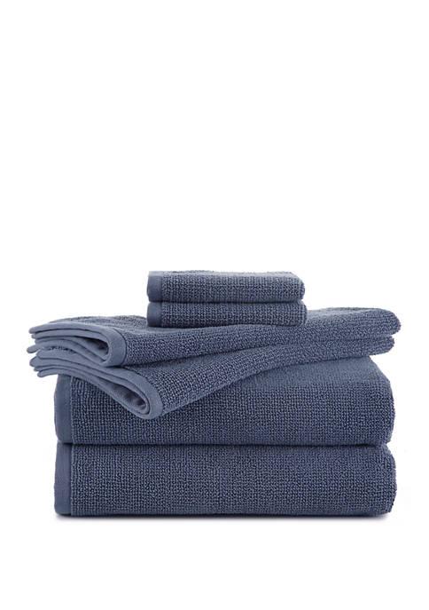 EcoPure Serene 6-Piece Towel Set