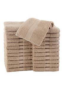 Commercial 24-Piece Wash Cloth Set