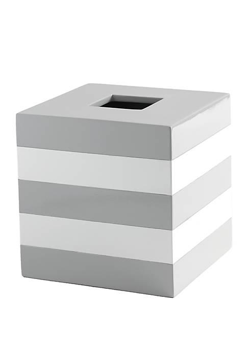 Cassadecor Lacquer Stripe Bath Accessories Tissue Holder