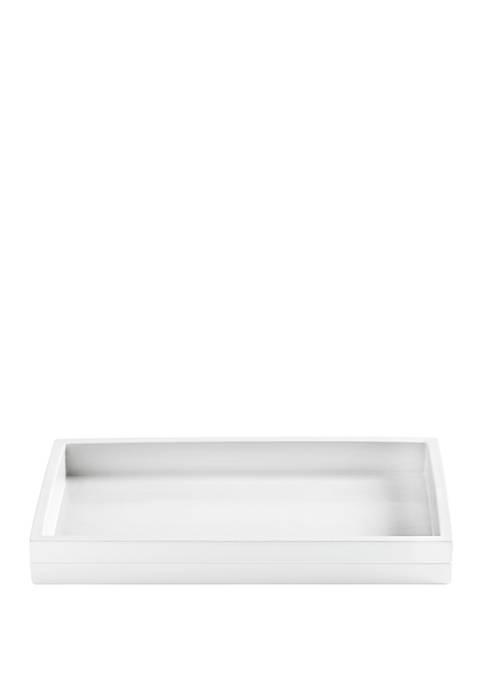 Cassadecor Lacquer Stripe Bath Accessories Tray