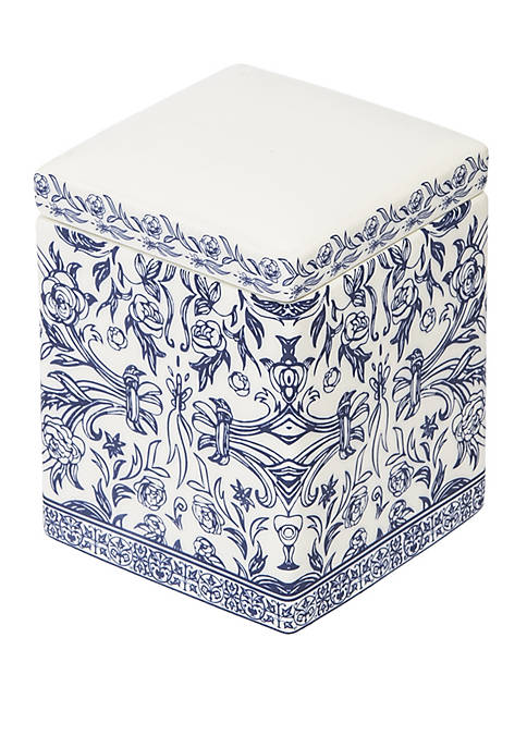 Cassadecor Damask Bath Accessories Cotton Jar