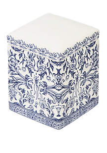 Cassadecor Damask Bath Accessories Cotton Jar
