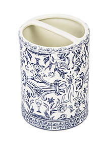 Cassadecor Damask Bath Accessories Toothbrush Holder