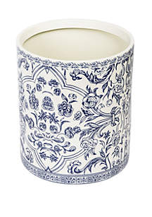 Cassadecor Damask Bath Accessories Wastebasket
