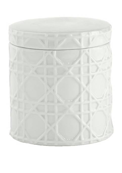 Cassadecor Wicker Bath Accessories Cotton Jar
