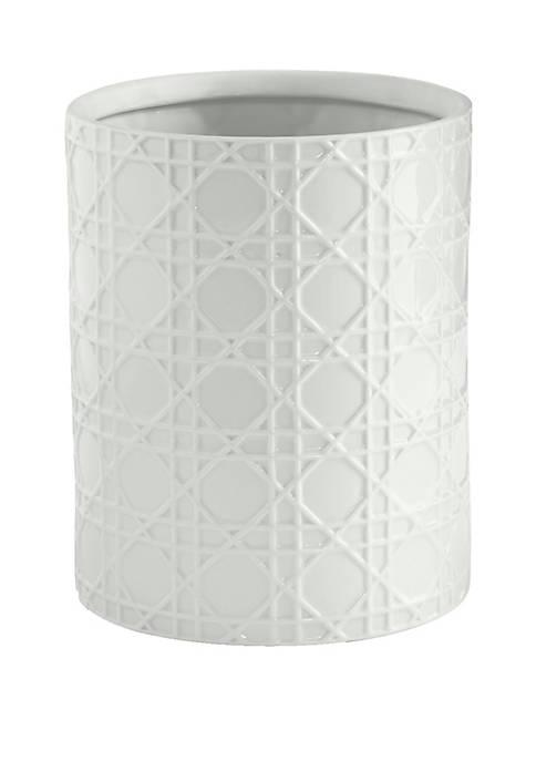 Cassadecor Wicker Bath Accessories Wastebasket