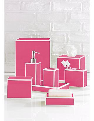 Kassatex Soho Bath Accessories, Hot Pink Bathroom Sets