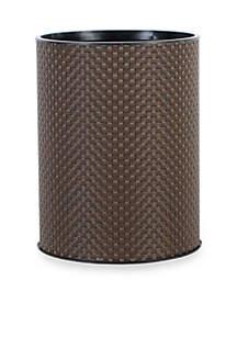 Basketweave Round Wastebasket 8.75-in. x 12.25-in.