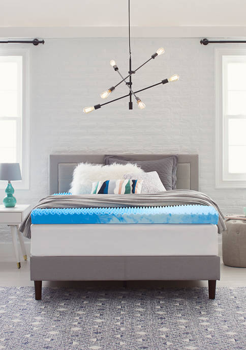 Comfort Revolution 4-Inch Reversible Convoluted Memory Foam