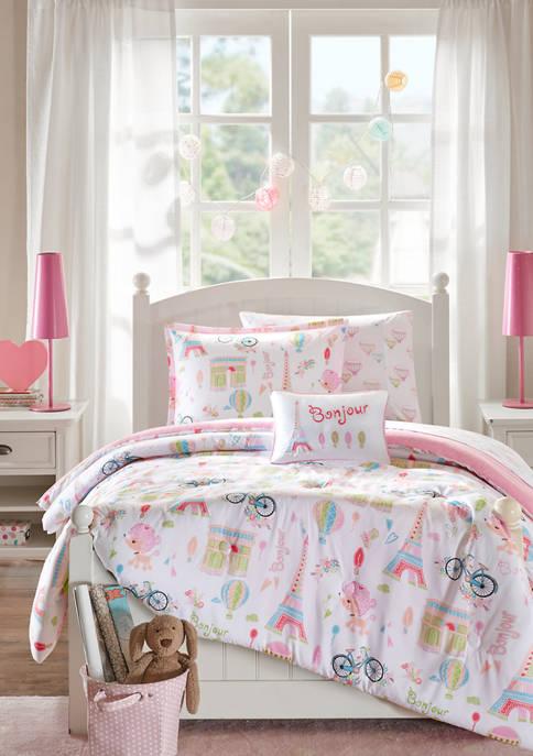 JLA Home Bonjour Paris Complete Bed and Sheet