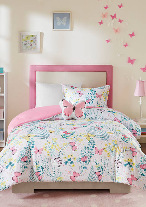 JLA Home Cynthia Butterfly Comforter Set