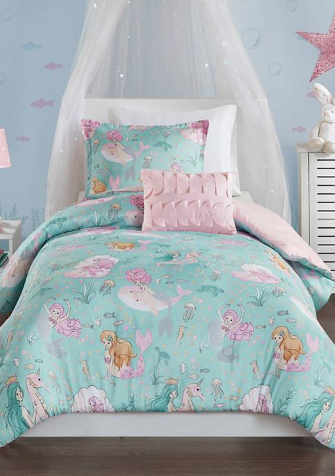 JLA Home Darya Mermaid Comforter Set