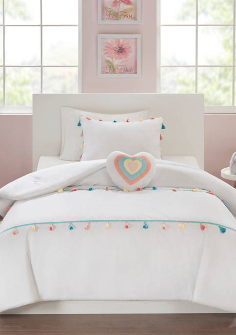 JLA Home Tessa Tassel Comforter Set