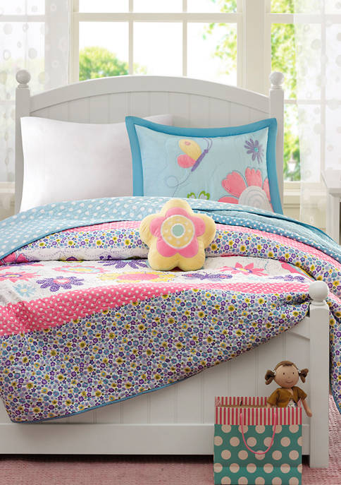 JLA Home Crazy Daisy Reversible Coverlet Set