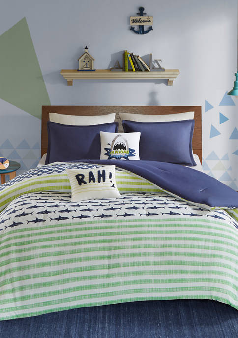 JLA Home Finn Shark Comforter Set