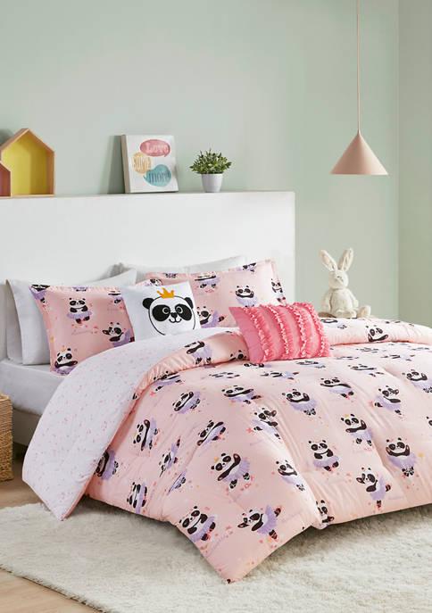 JLA Home Piper Ballerina Panda Reversible Comforter Set