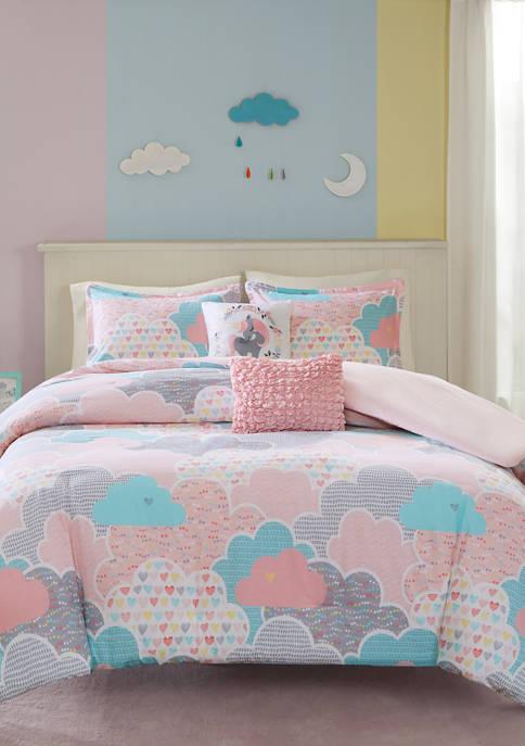Soft Pink Cloud Duvet Cover Set