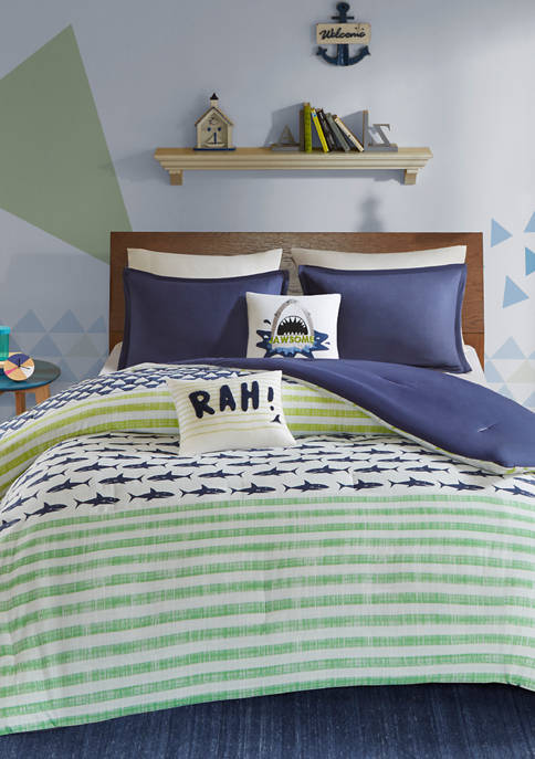 JLA Home Finn Shark Duvet Cover Set