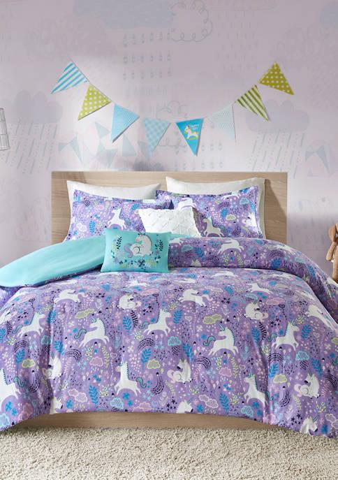 JLA Home Lola Unicorn Duvet Cover Set