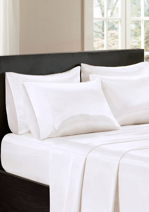 Satin Wrinkle-Free Luxurious 6-Piece Sheet Set