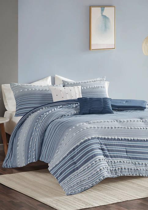 Calum Cotton Jacquard Comforter Set