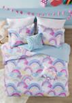 Emily Printed Rainbow Cotton Reversible Comforter Set