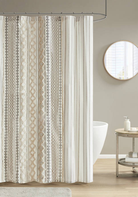 INK + IVY® Imani Cotton Printed Shower Curtain