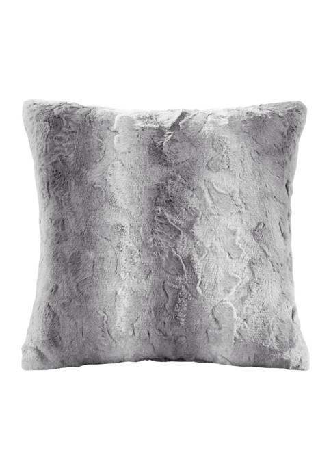 Madison Park Zuri Faux Fur Square Pillow