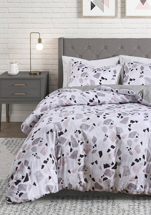 CosmoLiving Terrazzo Cotton Printed Comforter Set